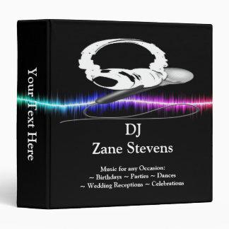 """DJ Microphone Headphones Binder 1.5"""""""