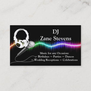 Dj business cards 1400 dj business card templates dj microphone headphones business card template friedricerecipe Image collections