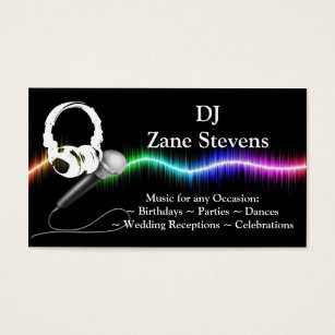 Dj business cards 1400 dj business card templates dj microphone headphones business card template flashek Image collections