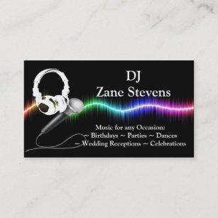 Dj business cards 1400 dj business card templates dj microphone headphones business card template cheaphphosting Images