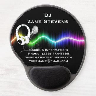 DJ Microphone Headphones Gel Mouse Pad