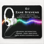 DJ Microphone Headphones Mouse Pad