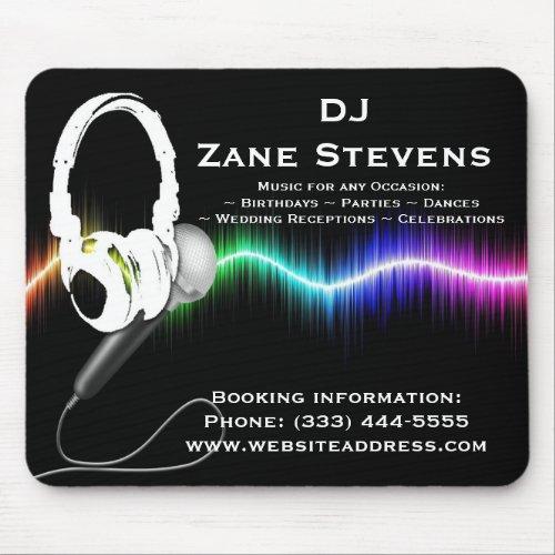 DJ Microphone Headphones Mouse Pad