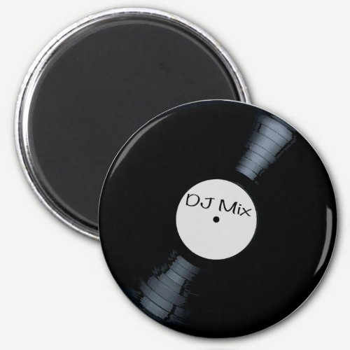 DJ Mix Record Label Magnet