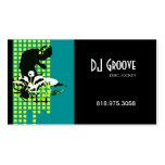 DJ Mixmaster Disc Jockey - Music Business Card