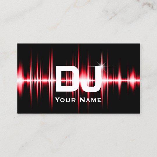 Dj modern red beats professional deejay music business card zazzle dj modern red beats professional deejay music business card reheart Image collections