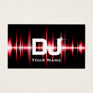 Dj Modern Red Beats Professional Deejay Music Business Card at Zazzle