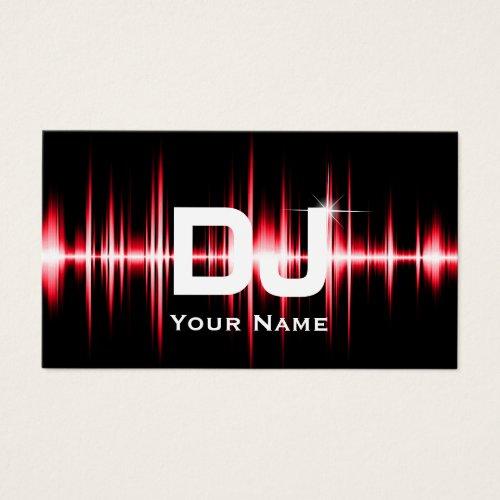 Dj business cards dj stuff dj modern red beats professional deejay music business card colourmoves
