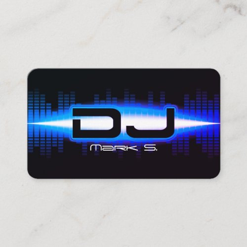 DJ Modern Royal Blue Business Card