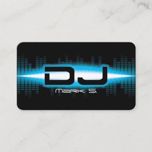 DJ Modern Sky Blue Business Card