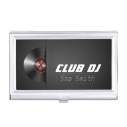 Mixer business card holders cases zazzle dj modern stylish turntable vinyl recoder mixer business card holder colourmoves