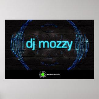 DJ Mozzy Neon Launch Poster for FreeMusicExposure