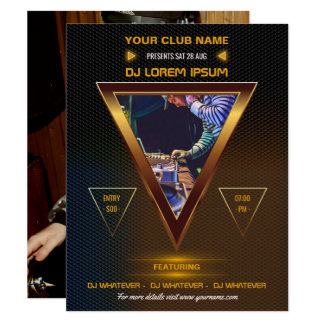 DJ Music and Dance Gig photo invitation