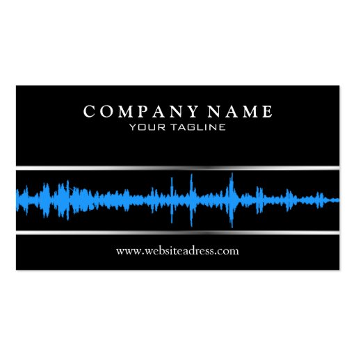 dj music business card template zazzle. Black Bedroom Furniture Sets. Home Design Ideas