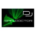DJ Music Business Cards Black Green