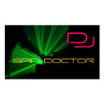 DJ Music Business Cards Pink Green