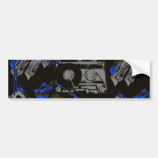 DJ Music Cassette Bumper Sticker