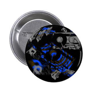 DJ Music Cassette Pinback Button