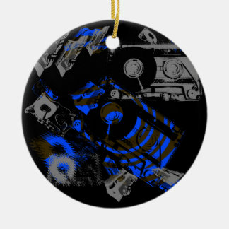 DJ Music Cassette Ceramic Ornament