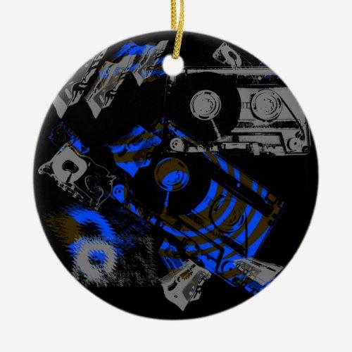 DJ Music Cassette Ceramic Ornament