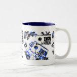 DJ Music Cassette Two-Tone Coffee Mug
