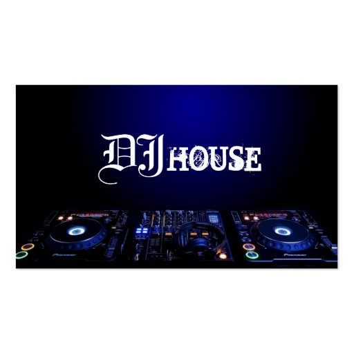 DJ, Music, Club, Business Card Pack Of Standard Business Cards