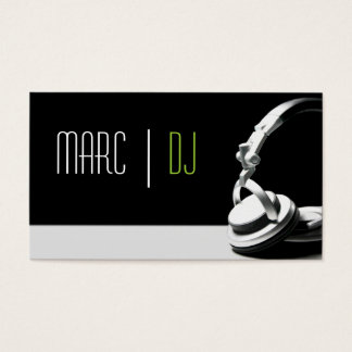 Club dj business cards templates zazzle dj music club entertainment business card reheart Image collections