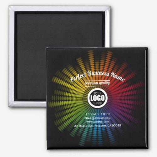 DJ Music Colorful Artist Sound Wave Creative Cool Magnet