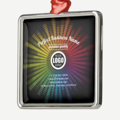 DJ Music Colorful Artist Sound Wave Creative Cool Metal Ornament