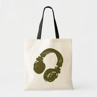 DJ music design Budget Tote Bag