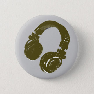 DJ music design Button