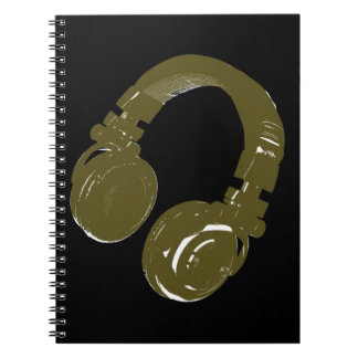 DJ music design Note Books