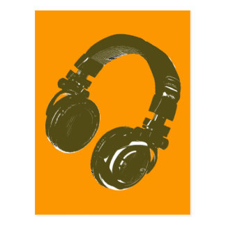 DJ music design Postcard