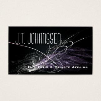DJ - Music Explosion Black Standard Business Cards