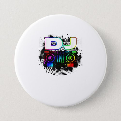 Dj Music Lover Music Player Sound Cool Funny Gift Button