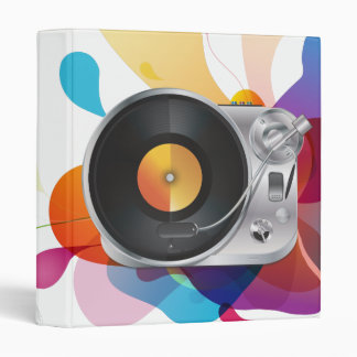 DJ Music Player 3 Ring Binder