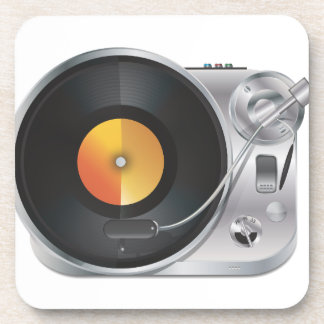 DJ Music Player Drink Coaster