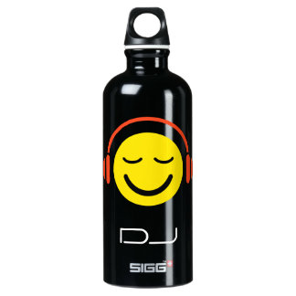 DJ music smiley face with headphones SIGG Traveler 0.6L Water Bottle