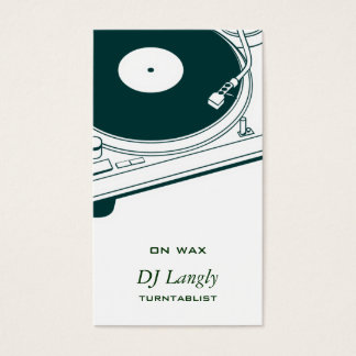 DJ / Music / Turntable Business Card
