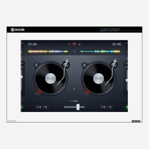 DJ music turntable controller Laptop skin