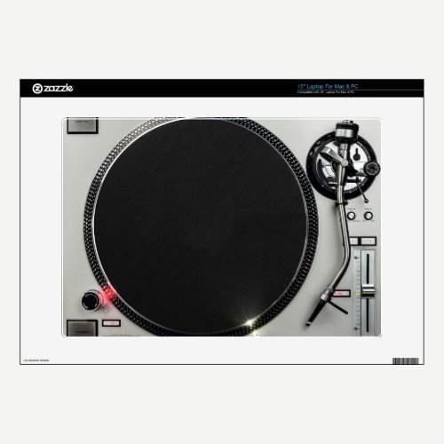 DJ music turntable controller Laptop skin