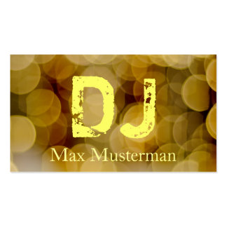 DJ-music visiting card Double-Sided Standard Business Cards (Pack Of 100)