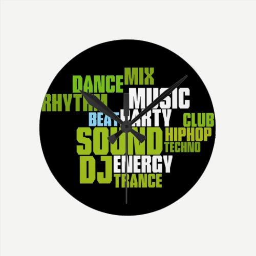 DJ/MUSIC Wall Clock