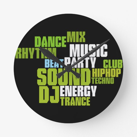DJ/MUSIC Wall Clock