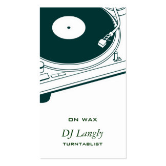DJ música placa giratoria Plantilla De Tarjeta Personal