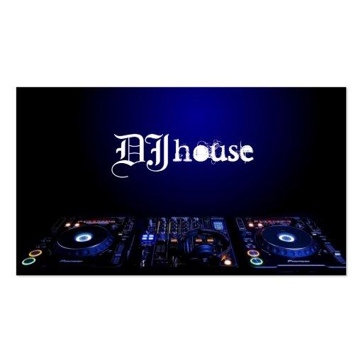 DJ, música, tarjeta de visita del entretenimiento