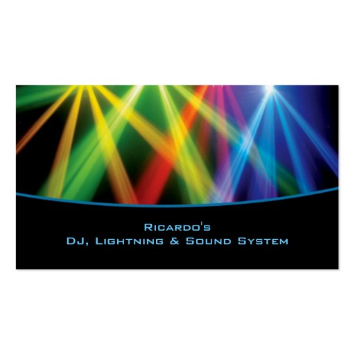 DJ / Musical Company Business Card