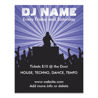 DJ Name 2 Music Flyer
