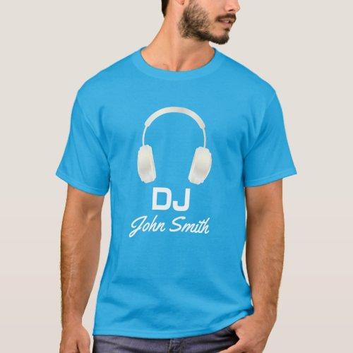 DJ Name Headphones Cool Music T-Shirt