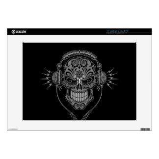 DJ negro azucara el cráneo Portátil 38,1cm Skin